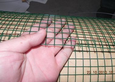Dark Green  Welded Wire Mesh Electro Galvanized Steel Grid Surface Passivation Construction