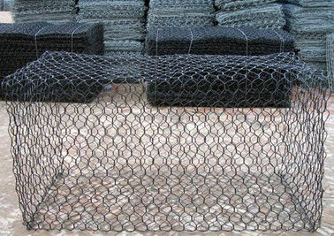 1m x 1m x 1m Hexagonal Galvanized Gabion Box With PVC Coated For Flood Bank
