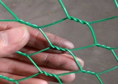 Woven Type Hexagonal Chicken Wire Mesh With Durable Greem Power Coated  1 Inch Hole Size