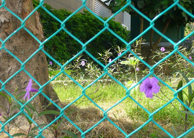 China 6x6cm Aperture 6 FT Chain Link Fence Galvanized PVC Coated  As Ground Fencing factory