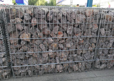 6x6cm Aperture Galvanized Gabion Box  with 4.5 Daimeter Stone Basket
