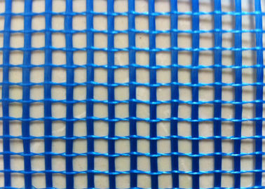 Blue 4 x 4  5 x 5 mm Fiberglass Mesh Reinforced Size C - Glass  With 110 g / m2