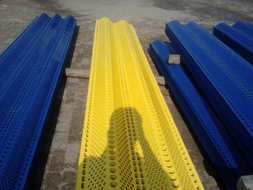 Anti Wind Dust Network Perforated Metal Mesh With Blue Color Bimodal - peaks