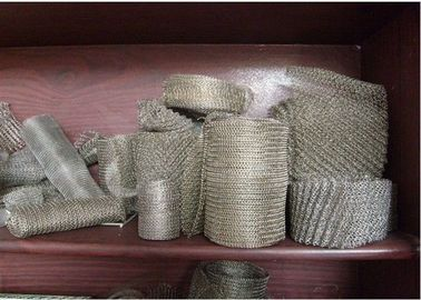 "304 / 316 Knitted Stainless Steel Wire Mesh 20-700mm Width With Wire 0.01""  0.009"""