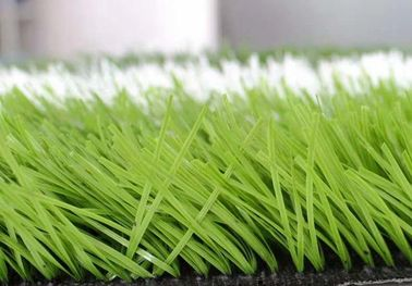 Low Friction Green Football Artificial Turf 50.0mm Pile Height With UV Properties