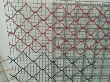 China PVC Coated Galvanized Chain Link Fence System 3.0mm - 4.76mm  Security For Agriculature factory