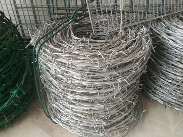 China 12# *14# Galvanized Barbed Wire Hot Dip Galvanized Iron Wire Fence factory