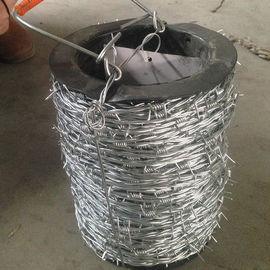 China Normal Twisted Electric Galvanized Barbed Wire Security Barbed Wire Fencing In Bucket factory