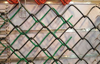 Hot Dipped Chain Link Panels Farm Fence , Electro Galvanized Backyard Diamond Mesh