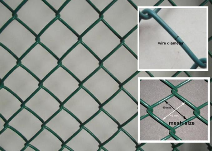 Smooth Surface Diamond Fence , Decorative Mild Steel Wire Chain Link Wire Fence