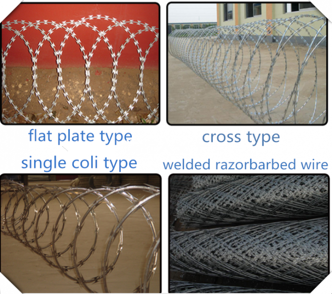 450mm Diameter PVC Coated Concertina Razor Barbed Wire BTO - 22 Type