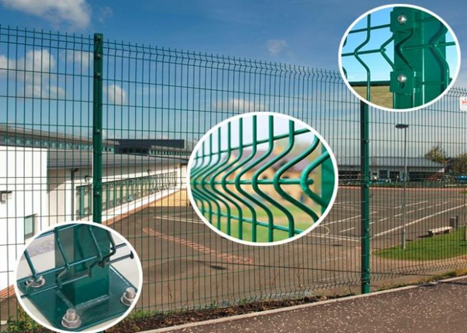 PVC Coated Welded Wire Mesh Fencing PVC Wire Mesh Panel Fencing 1.8m ...
