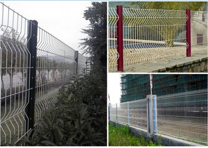 PVC Coated Welded Wire Mesh Fencing PVC Wire Mesh Panel Fencing 1.8m*3m Size