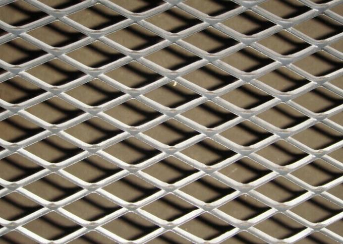 Diamond Hole Expanded Metal Sheet , Hot Dipped Galvanized Construction Expanded Metal Screen