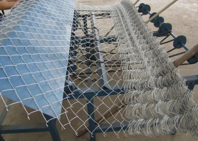 Zinc Coating Flat Surface Chain Wire Fencing  Galvanized Diamond For Garden Security