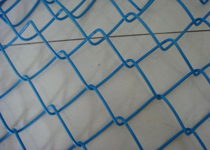 Q195 Portable 2.5mm Thicks Chain Link Fence 2x2 Colored Galvanized PVC Coated Diamond