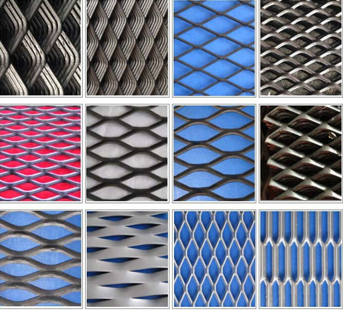 Diamond Powder Coated Expanded Metal Mesh with 0 . 4 mm - 5 . 0 mm Thickness