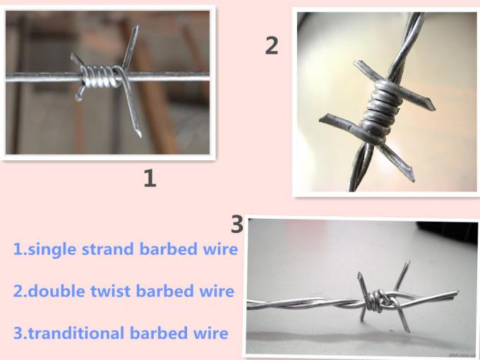12 # * 14 # Diameter  Hot Dip Galvanized Barbed Wire With Stab For Protection Fence