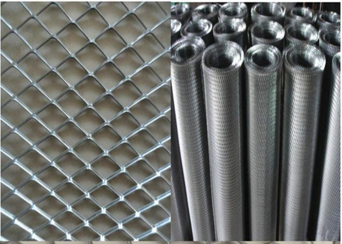 "304 316 Stainless Steel Expanded Metal Mesh With Diamond Shape 4 "" * 8 """