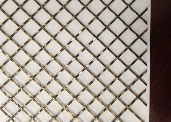 1 . 0mm Thickness 304 Stainless Steel Wire Crimped Wire Mesh with Copper Coating