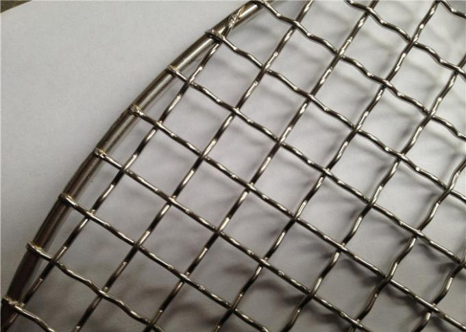 1   0 mm Wire Diameter SS Crimped Woven Wire Mesh , BBQ Mesh