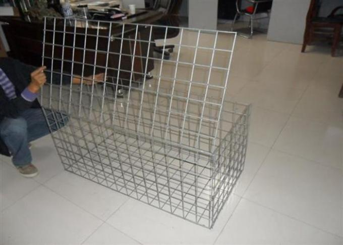 1m * 0.5m * 0.5m Galvanized Welded Gabion Box With 4mm Wire anti-crossion