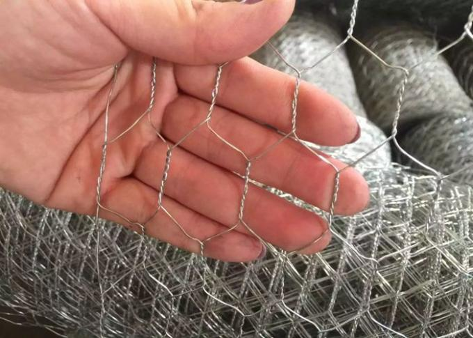 "Galvanized Woven Chicken Mesh Wire Fencing 1 / 2""  For Ducks / Gooses"