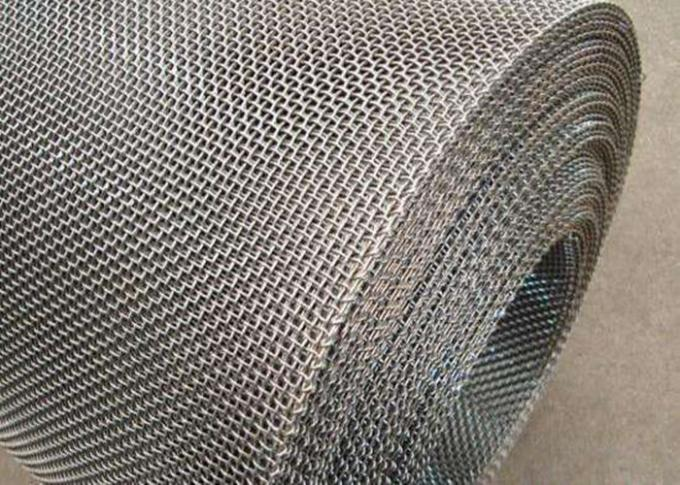 Stainless Steel 304 Square Woven Wire Mesh with Bullet Proof Crimped Screen