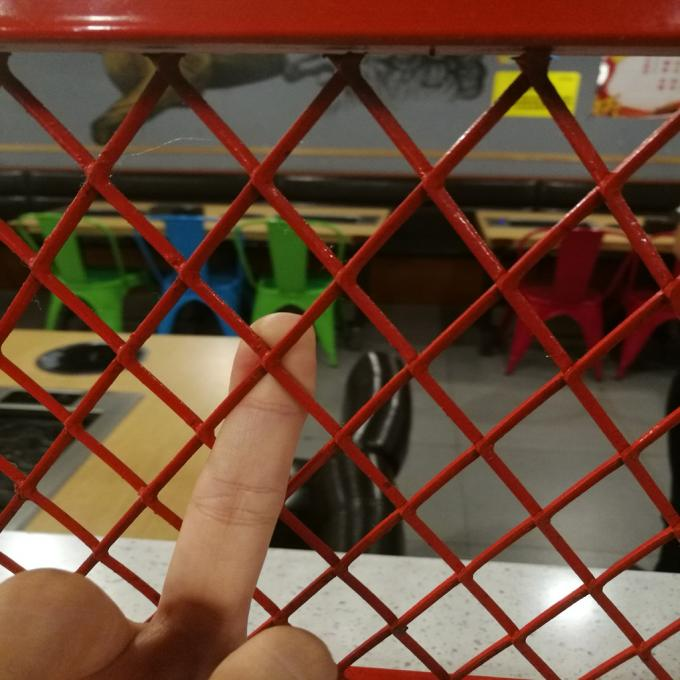Decoration Expanded Aluminum Mesh , 0 . 4mm Thickness Red Coating Expanded Mesh