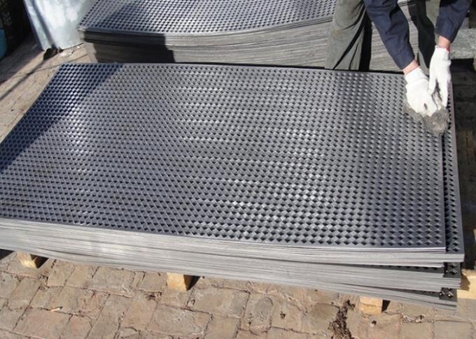 SS 304 Resistance Corrission 1 . 5mm  Thickness  1 Inch Hole Size Perforated Mesh , Perofrated Metal Sheet Fence