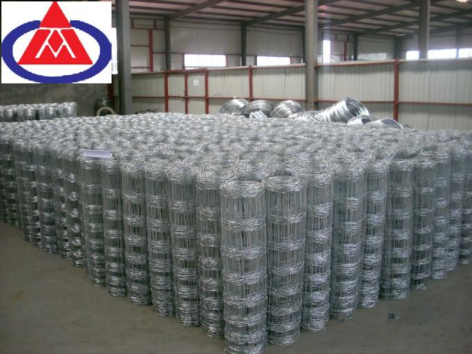Galvanized Steel Fixed Knot Field Fence High Strength 2.5mm Wire Woven For Farmland Deer