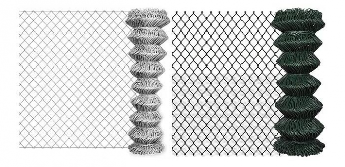 Outdoor Iron Industrial Wire Chain Link Fence Agricultural For Protection