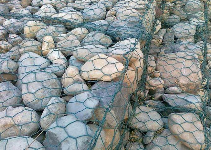 Gabion Basket Galvanized Gabion Box Retaining Wall With 2.7mm 3.05mm Wire Anti - Crossion 2m * 1m * 1m