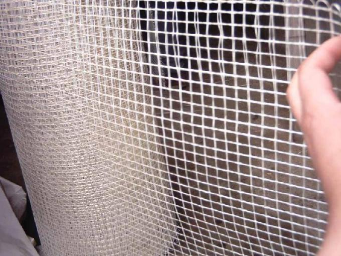 5mm * 5mm 120g / m2 Fiberglass Mesh Alkali Resistant For Wall Covering