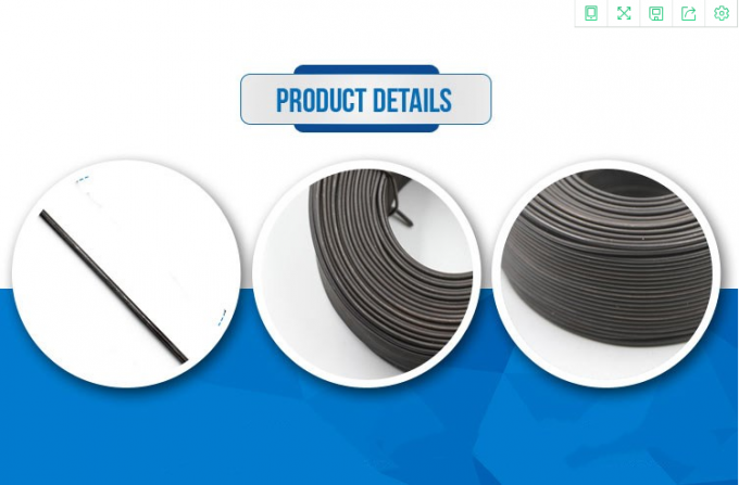 1 mm Low Carbon Steel Black Annealed Wire Corrosion Resistance
