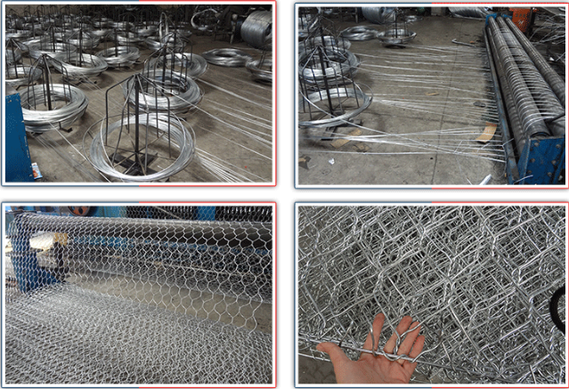 2m x 1m x 1m Twist Galvanized Gabion Box 80mm × 200mm Mesh Size for Stone Cages