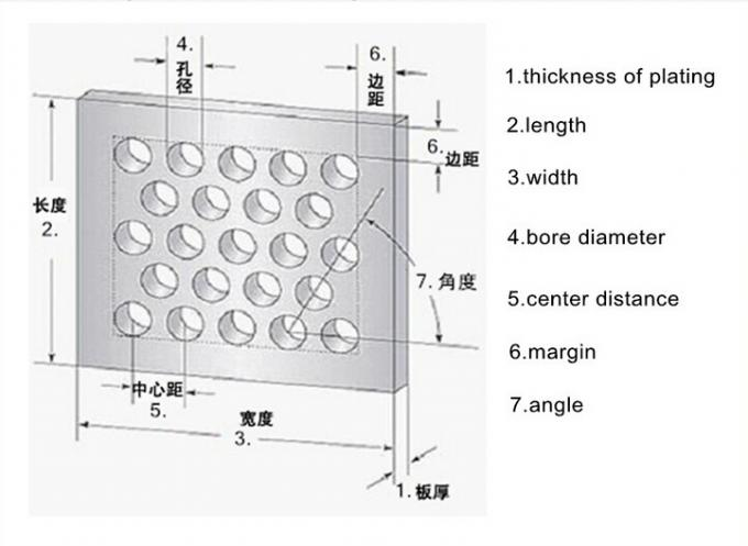 0.8 Mm Diameter Perforated Metal Mesh Round Hole Punched Mesh Aluminum Plate