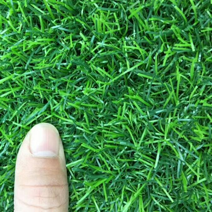 10mm Height Green Real Looking Artificial Grass 10000dtex Decoration For Music Band