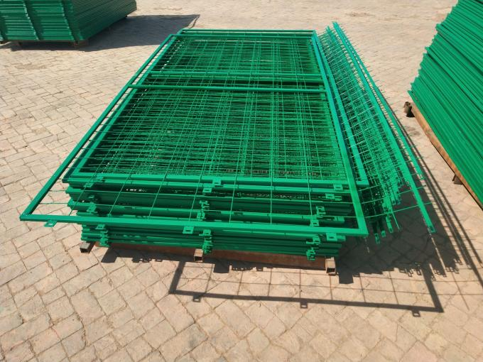 50*150mm Hole Pvc Coated Frame Welded Wire  Mesh Fence for Warehouse