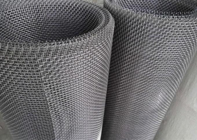 Durable 65 Mn Crimped Woven Wire Mesh , Mining Screen Mesh 1.0m Width