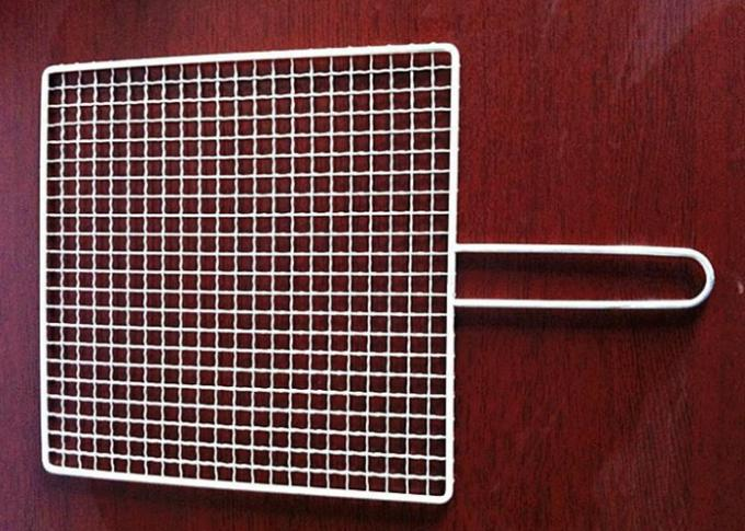 Manganese Stainless Steel 295MM*60G Crimped BBQ Mesh / Screen Wire Mesh