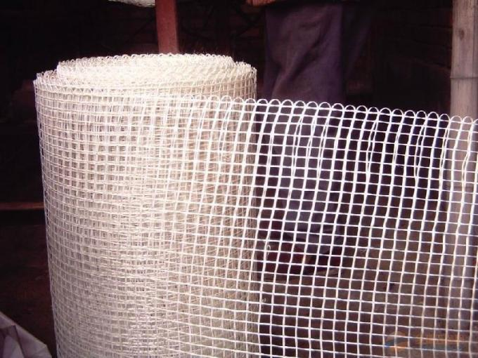 5 * 5mm 120g / M2 Adhesive Fiberglass Mesh For Wall Reinforcing