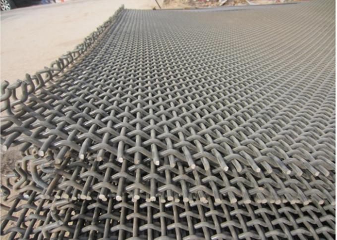 65 Mn Woven Plain Crimped Wire Mesh Cloth 25MM*25MM*1.5MM Size