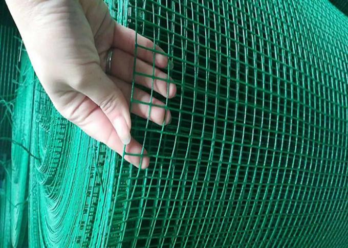 2.2 MM Red Color PVC Coated Welded Wire Mesh 1'' X 1'' Hole Q195 Material