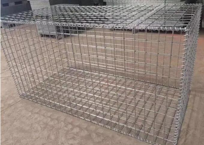 Galfan 50CM*1M*1M*80MM*100MM Hesco Barrier Gabion Box / Gabion Stone Cages