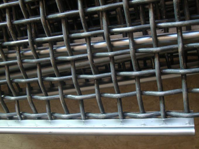 Galvanized Crimped Wire Mesh Vibrating Sieve Mesh For Protection 1mm-8mm Dia